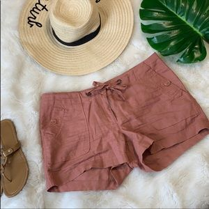 Kenar rose colored linen shorts size 8